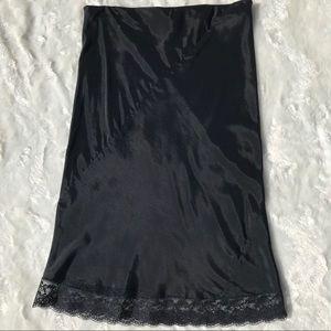Simone Rocha Bias Cut Pencil Slip Skirt with Lace